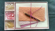Exquisite REGALO lettera / scrittura Cancelleria Set / Handmade Mulberry Carta / Baby Pink