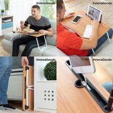 Mesa plegable auxiliar portatil multiusos, ranuras bolígrafo, móvil, tablet, etc