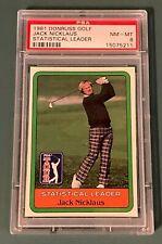 1981 Donruss Golf Jack Nicklaus PSA 8 NM-MT Statistical Leader