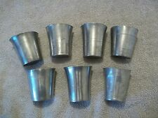 7 Vintage Pewter Cups of Various size and design