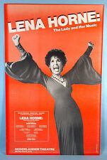1981 Lena Horne The Lady & Her Music Live Broadway Theatre Poster Stormy Weather