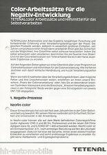 Prospekt Tetenal Color-Arbeitssätze Negativ-Entwicklung, 80er J. Fotochemikalien