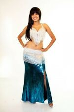 Professional Bellydance Belly Dance Bellydancing Turquoise Lycra Skirt