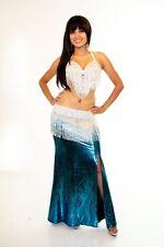 Professional Bellydance Belly Dance Bellydancing Turquoise Lycra Skirt