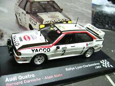 AUDI Quattro Rallye Lyon Charbonniers 1984 Darniche #2 IXO Altaya 1:43