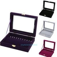 Jewelry Box Necklace Earring Ring Travel Storage Case Organizer Display Gift