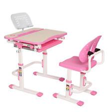 PrimeCables® Adjustable Children's Study Desk Table Chair Set Child Kids