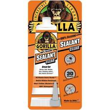Gorilla 100 Percent Silicone Sealant 8090002 Waterproof 2.8 Oz Tube, Clear