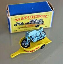 LESNEY MATCHBOX Honda Moto Trailer N°38 Original Box
