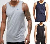 New Nike Mens Cotton Vest Tank Sleeveless T-Shirt  S -XL Black Grey Navy singlet