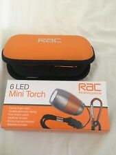RAC Aluminium Torch with 6 Extra Bright LED's Inc Batteries and Case