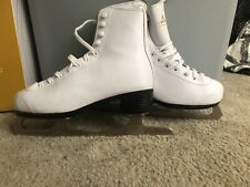 American Athletic Girl's American Leather Lined Figure Skates Size 4. Style 512