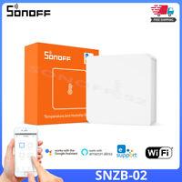 SONOFF SNZB-02 ZigBee Temperature Humidity Recordings Sensor eWeLink APP Sync