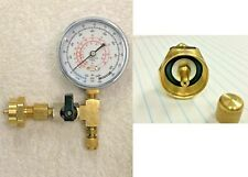 Propane Tank Cga600 To 14 Male Flare With Onoff Valve Gauge Amp Brass Cap