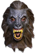 """An American Werewolf In London"" Werewolf Demon Mask Gray Latex Mask With Hair"