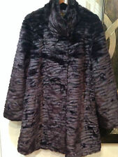 Women's Outwear Winter heavy washable Faux Fur Coat dress jacket plus1X $260 new