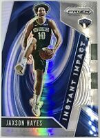 2019-20 Panini Jaxson Hayes Silver Prizm Rookie Card RC Instant Impact Pelicans