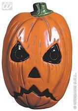 Plastic Orange Pumpkin Face Mask Halloween Fancy Dress