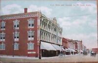 1910 Fort Scott, KS Postcard: Main Street & 2nd - Kansas