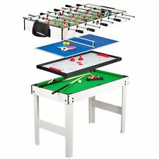 4 IN 1 KIDS GAMES TABLE - POOL / HOCKEY / TENNIS / FOOTBALL SOCCER NEW