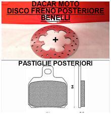 DIS1017 DISCO FRENO POSTERIORE BENELLI TNT 1130 TREK AMAZONES 2012 + PASTIGLIE
