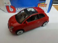 Fiat 500 Open Top Red - Die Cast 1:43 - BBurago New in Box
