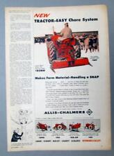 10X15 Orig 1956 Allis Chalmers WD-45 Ad TRACTOR EASY CHORE SYSTEM