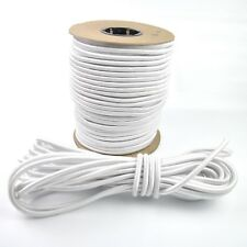 SHOCK CORD 3MM 5MM 8MM 10MM WHITE ELASTIC BUNGEE ROPE STRAPS TIE DOWN TENT POLE