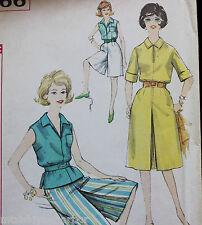 Vtg 1950s Simplicity Pattern Uncut 3866 Sports Separates Culottes Caprice Shorts
