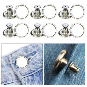 12 PCS Jeans Button, No Need Sewing Pants Button 17 mm, DIY Clothing Decoration,