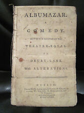 Thomas Tomkis ALBUMAZAR Play Saunders Dublin Drury Lane Revival Edition 1773
