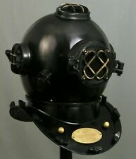 Black Antique Vintage Diving Helmet Movie Scuba Navy Mark 5 Scuba Divers Helmet