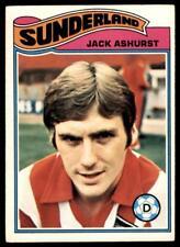 Topps Footballers 1978 Orange (B1) Jack Ashurst Sunderland No. 368