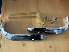 FORD ESCORT MK1 CHROME FRONT BUMPER KIT, 2x bumpers, 2x Brackets & Fixing Bolts