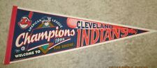 CLEVELAND INDIANS 1995 AMERICAN LEAGUE CHAMPIONS PENNANT WELCOME TO THE SHOW MLB
