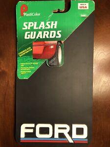 "Pack of 2 Vintage FORD Mud Flaps Splash Guards 8""x15"" Car Truck Plasticolor NOS"