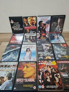Action Thriller Drama DVD Bundle x16 Classic Movie Job Lot