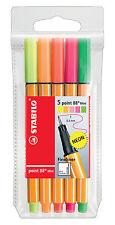 """STABILO® Fineliner point 88® Mini Etui mit 5 Stiften """"Neon"""""""