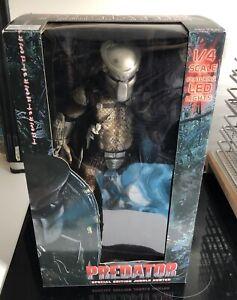 Neca Predator 1/4 Scale Special Edition Jungle Hunter LED Version Rare