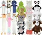 Novelty Hot Water Bottle Animal Character Warmer with Soft Plush Faux Fur Cover