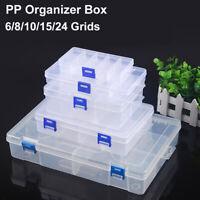 6/8/10/15/24 Screws Compartment Tool Bit DIY Organiser Case Set Slot Storage Box