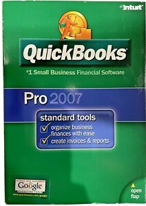 Intuit QuickBooks Pro2007 Small Business Used w/ License USA