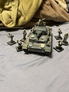 21 Century used 1/32 WWII German PanzerIV Ause-D Tank w/figures