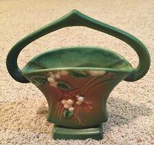 Vintage Roseville Green Snow berries Vase Planter Ibk-7 Usa