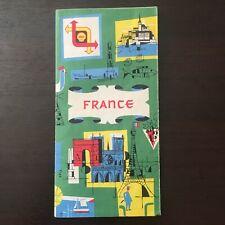 Ancienne Carte Routière FRANCE  SHELL BERRE - 1958