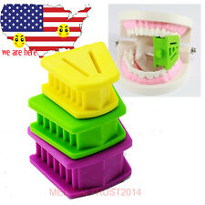 dental Silicone Latex Mouth Prop Bite Blocks Purple Green Yellow adult children
