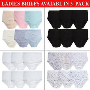Ladies Briefs Knickers Womens Underwear Full 100% Cotton Comfort Fit Size M-3XL