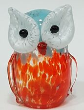 OWL Art Glass Sculpture Statue Hand Blown Whimsical Bird Animal Gift Home Decor