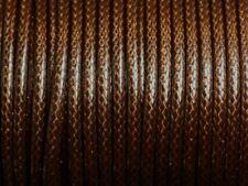 1 Bobine 45 mètres - Fil Cordon Coton Ciré 3mm Chocolat