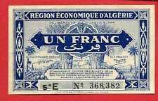 ( Ref: CDC 368) RÉGION ECONOMIQUE ALGÉRIE CDC  1 FRANC 31/01/1944 (NEUF)